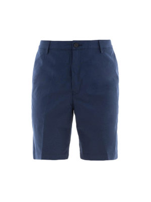 KENZO: pantaloni shorts - Bermuda in cotone stretch blu