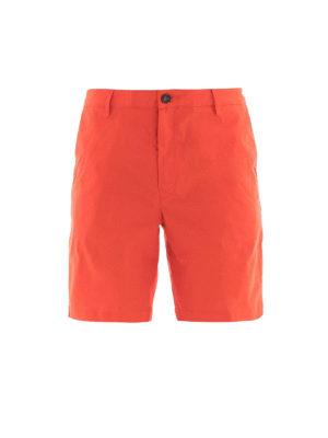 KENZO: pantaloni shorts - Bermuda cotone stretch rosso chiaro