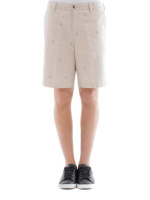 Kenzo: Trousers Shorts online - Micro print cotton chino shorts