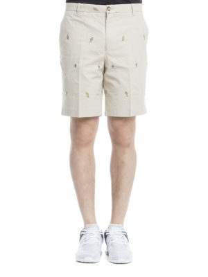 Kenzo: Trousers Shorts online - Patterned light cotton shorts