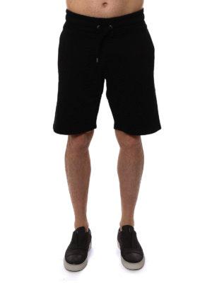 Kenzo: Trousers Shorts online - Rubberised logo print fleece shorts
