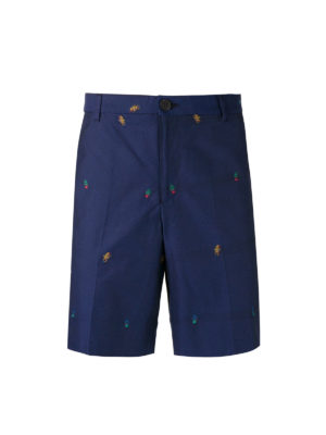 Kenzo: Trousers Shorts - Patterned light cotton shorts