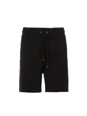 Kenzo: Trousers Shorts - Rubberised logo print fleece shorts
