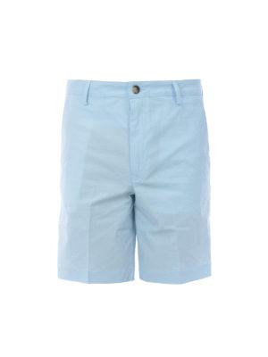 KENZO: pantaloni shorts - Bermuda in cotone stretch celeste