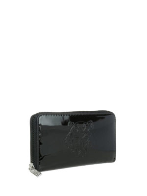 Kenzo: wallets & purses online - Tiger zip-around shiny wallet