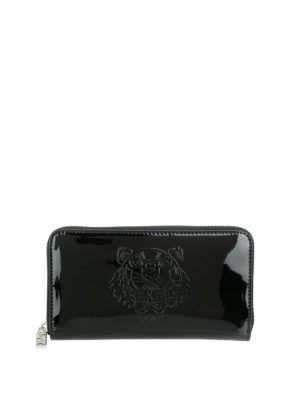 Kenzo: wallets & purses - Tiger zip-around shiny wallet