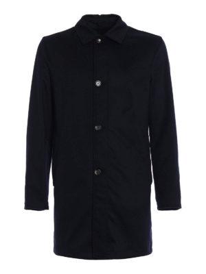 Kired: short coats - Peak blue reversible raincoat