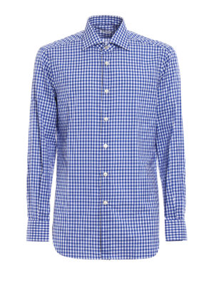 Kiton: shirts - Gingham cotton classic shirt