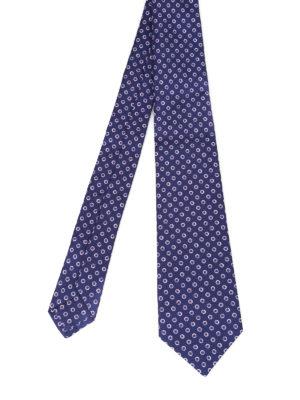 Kiton: ties & bow ties - Dot printed silk tie