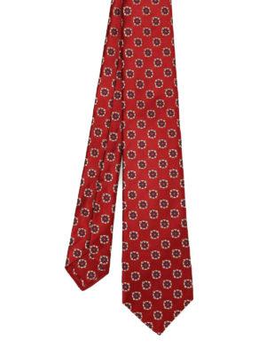 Kiton: ties & bow ties - Flower jacquard silk tie