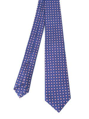 Kiton: ties & bow ties - Flower pattern silk tie