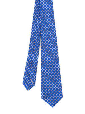Kiton: ties & bow ties - Geometric flower silk tie