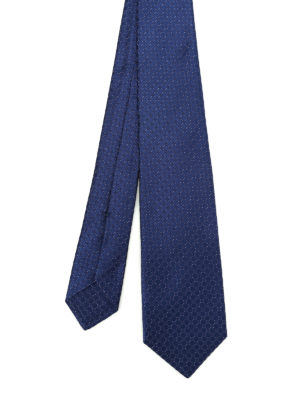 Kiton: ties & bow ties - Micro patterned silk tie