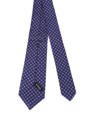 Kiton: ties & bow ties online - Dot printed silk tie