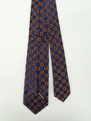 Kiton: ties & bow ties online - Flower jacquard silk tie