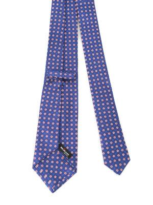 Kiton: ties & bow ties online - Flower pattern silk tie