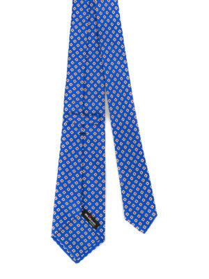 Kiton: ties & bow ties online - Geometric flower silk tie