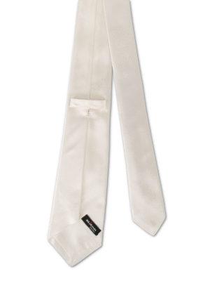 Kiton: ties & bow ties online - Ivory silk satin tie