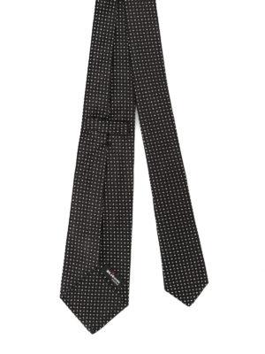 Kiton: ties & bow ties online - Jacquard silk black tie