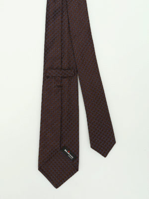 Kiton: ties & bow ties online - Micro patterned silk tie