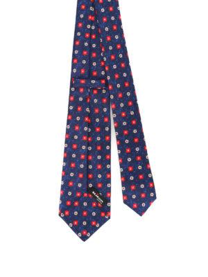 Kiton: ties & bow ties online - Pattern melange silk tie