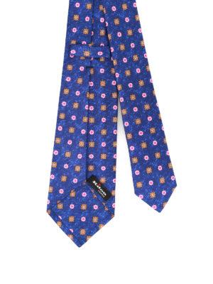 Kiton: ties & bow ties online - Patterned melange silk tie