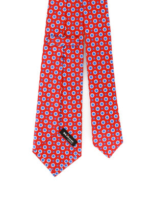 Kiton: ties & bow ties online - Patterned red silk tie