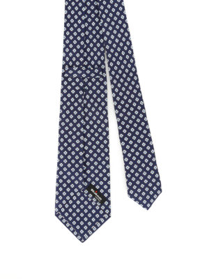 Kiton: ties & bow ties online - Stylized flower patterned silk tie
