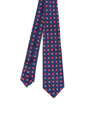 Kiton: ties & bow ties - Pattern melange silk tie