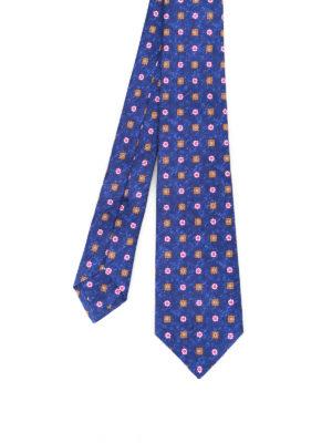 Kiton: ties & bow ties - Patterned melange silk tie