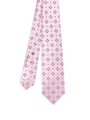 Kiton: ties & bow ties - Patterned pink silk tie