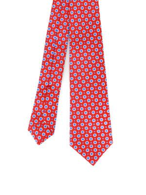 Kiton: ties & bow ties - Patterned red silk tie
