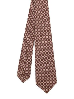 Kiton: ties & bow ties - Printed silk tie