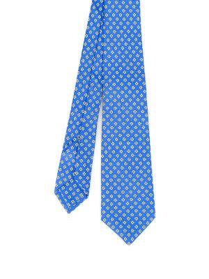 Kiton: ties & bow ties - Stylized flower pattern silk tie