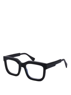 KUBORAUM: Glasses - K4 black acetate eyeglasses