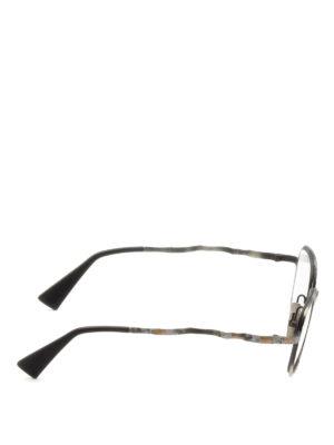 Kuboraum: glasses online - Mask H12 hammered metal glasses