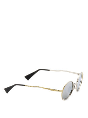 Kuboraum: sunglasses - Mask H11 hammered metal sunglasses