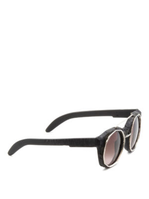 Kuboraum: sunglasses - Mask U6 matte acetate sunglasses