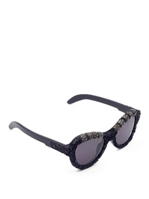 Kuboraum: sunglasses - Mask Y2 embroidered sunglasses