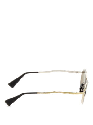 Kuboraum: sunglasses online - Mask H11 hammered metal sunglasses