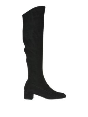 L' AUTRE CHOSE: stivali - Stivali al ginocchio in camoscio nero