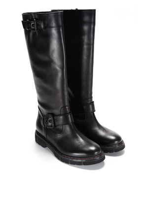 L' Autre Chose: boots - Buckles leather boots