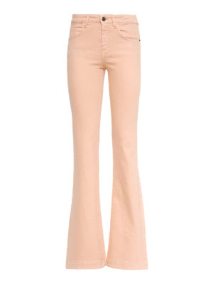 L' AUTRE CHOSE: casual trousers - Denim gabardine bootcut trousers