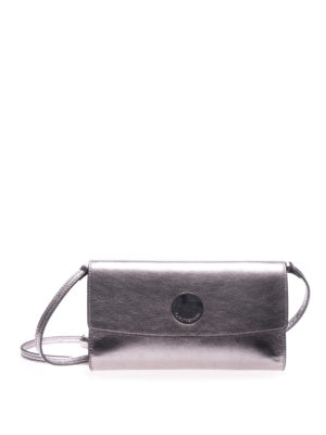 L' Autre Chose: clutches - Silver laminated leather clutch