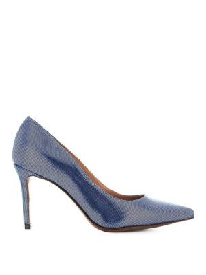 L' AUTRE CHOSE: scarpe décolleté - Décolleté in canneté bluette