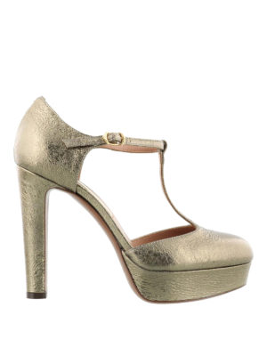 L' Autre Chose: court shoes - Crackled leather d'orsay pumps