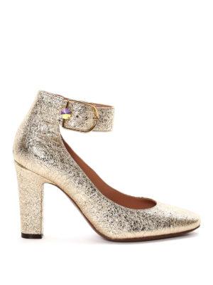 L' Autre Chose: court shoes - Crumpled leather pumps