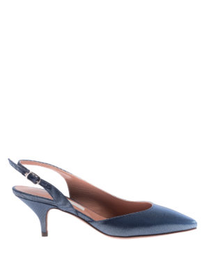 L' Autre Chose: court shoes - Grosgrain slingback pumps