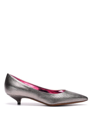 L' Autre Chose: court shoes - Metallic canvas low pump