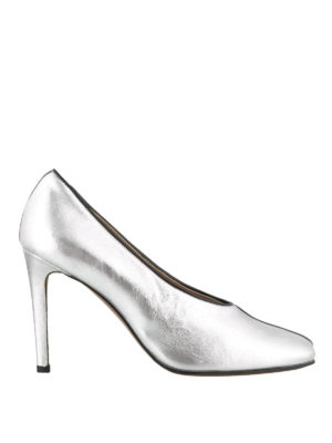 L' AUTRE CHOSE: scarpe décolleté - Décolleté a punta quadrata in pelle laminata